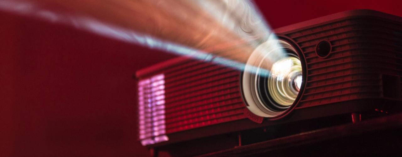 Un vidéo projecteur