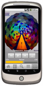 Le lecteur de l'application Android de Subsonic