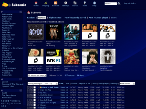L'interface web de Subsonic