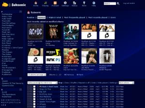 L'interface web de Subsonic